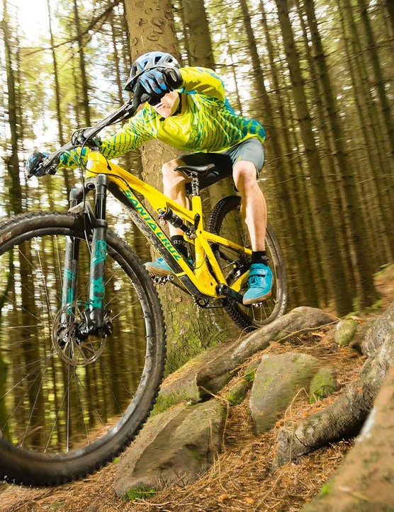 With its longer, slacker geometry the new Tallboy encourages a much more attacking attitude than most 100-110mm bikes