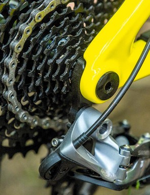 Bolt-thru back end adds security and stiffness