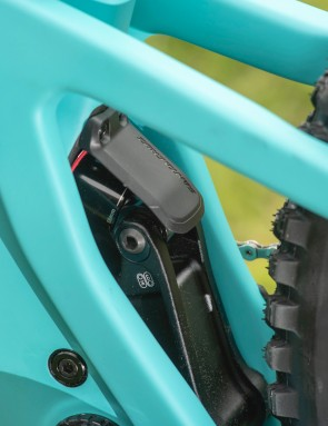 A small fender protects the shock