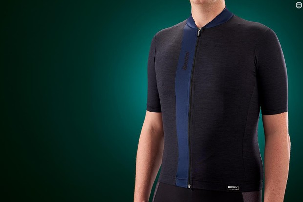 Not one for those who want to make a statement, Santini's jersey is still packed with features