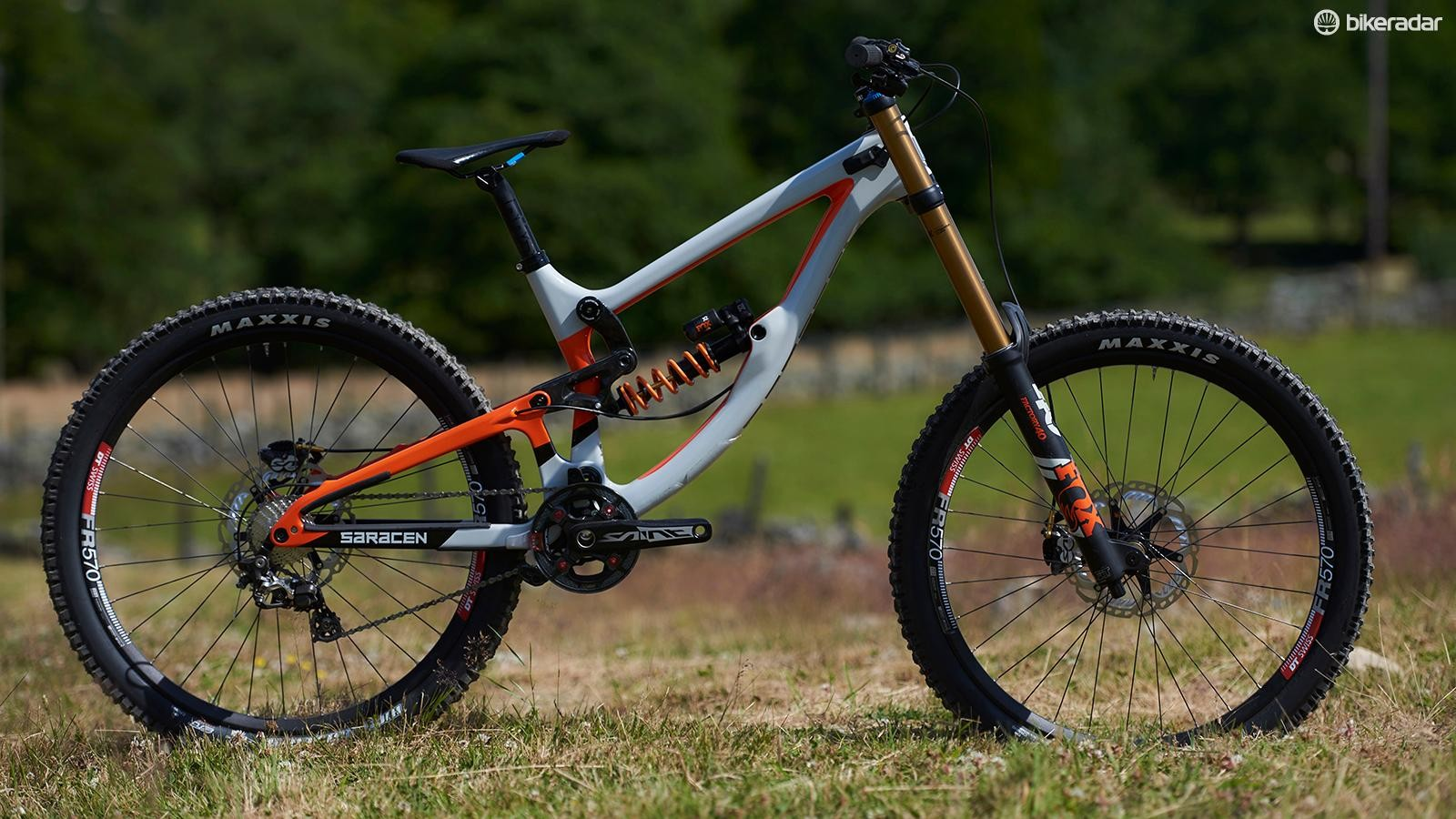 The Myst downhill bike remains unchanged for 2018, save for a fresh paint job. £5,699.99 gets you full Fox Factory suspension and Shimano Saint kit