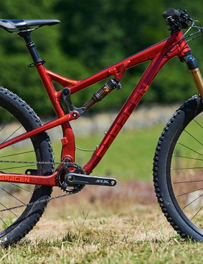 Saracen showed us its new 29er trail bike, the Traverse, but this isn't going to hit the shops until early 2018