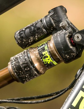 A Fox Float X shock helps the rear end soak up the hits with aplomb