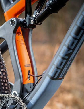 The Fox Float Performance EVOL shock with 130mm of travel