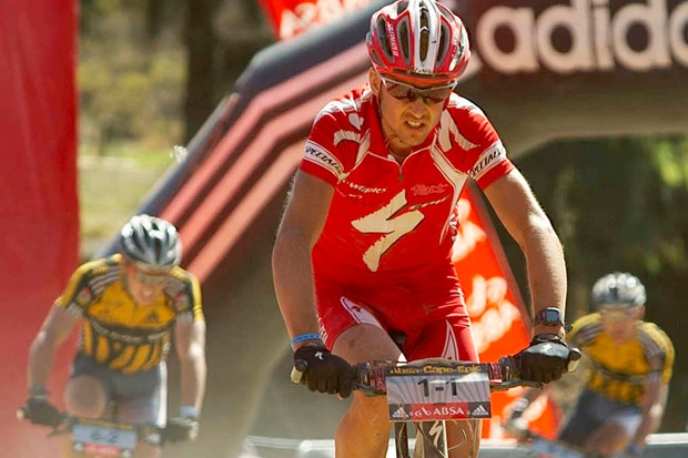 New MTB marathon world champ Christoph Sauser, pictured earlier this year at the Cape Epic