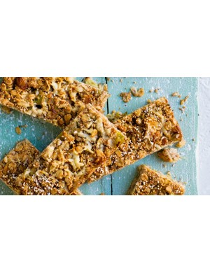Flapjacks don't need to be sweet, as this cheddar and leek version demonstrates