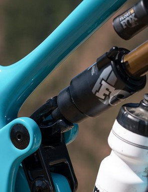 Yeti's shock mount makes it easy to install or remove the shock for race-day tuning