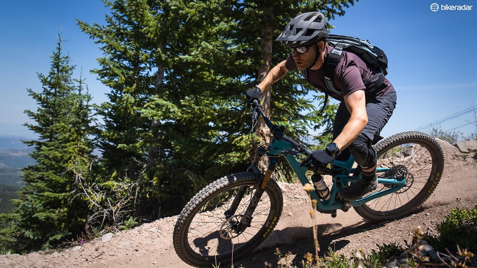 The SB150 comes into its own on high speed, technical terrain