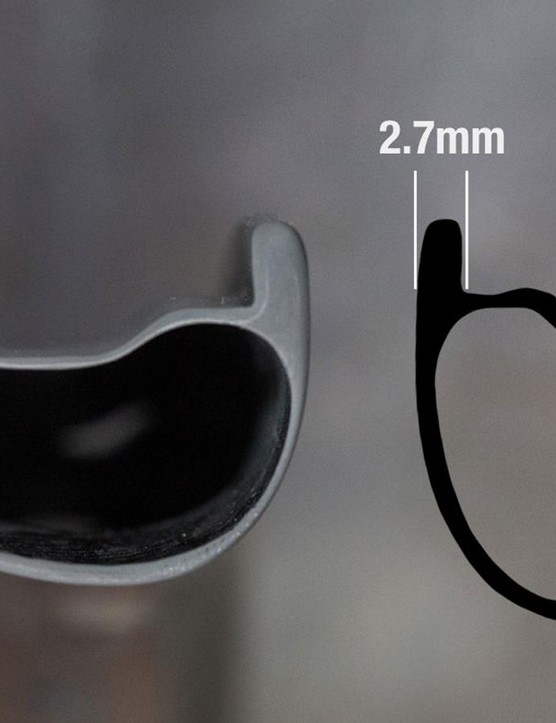 The Reserve rims are shallower for improved compliance but have thicker beads for durability