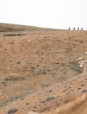 The terrain varied from high alpine scree fields...