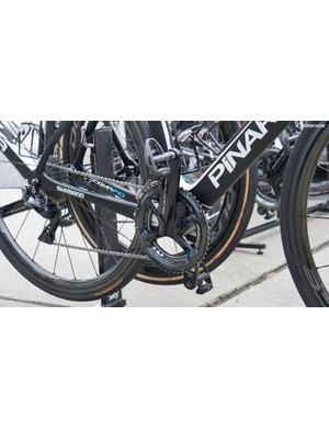 Team Sky has meters provided by Shimano and Stages, but the team is all racing on Stages meters
