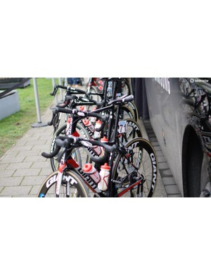 One Giant Propel — in rim-brake dressing — snuck into Scheldeprijs