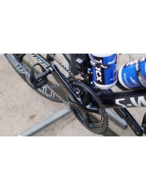 Quick Step riders are using Specialized's 4iiii-made power meter