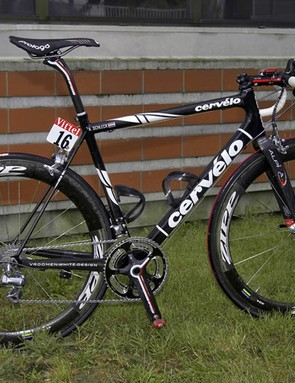 Rising star Andy Schleck (CSC-Saxo Bank) is competing in his first Tour de France on a Cervélo R3-SL.