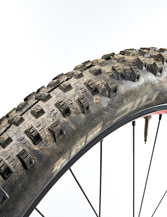 And Schwalbe Nobby Nic PaceStar 2.8in on the rear