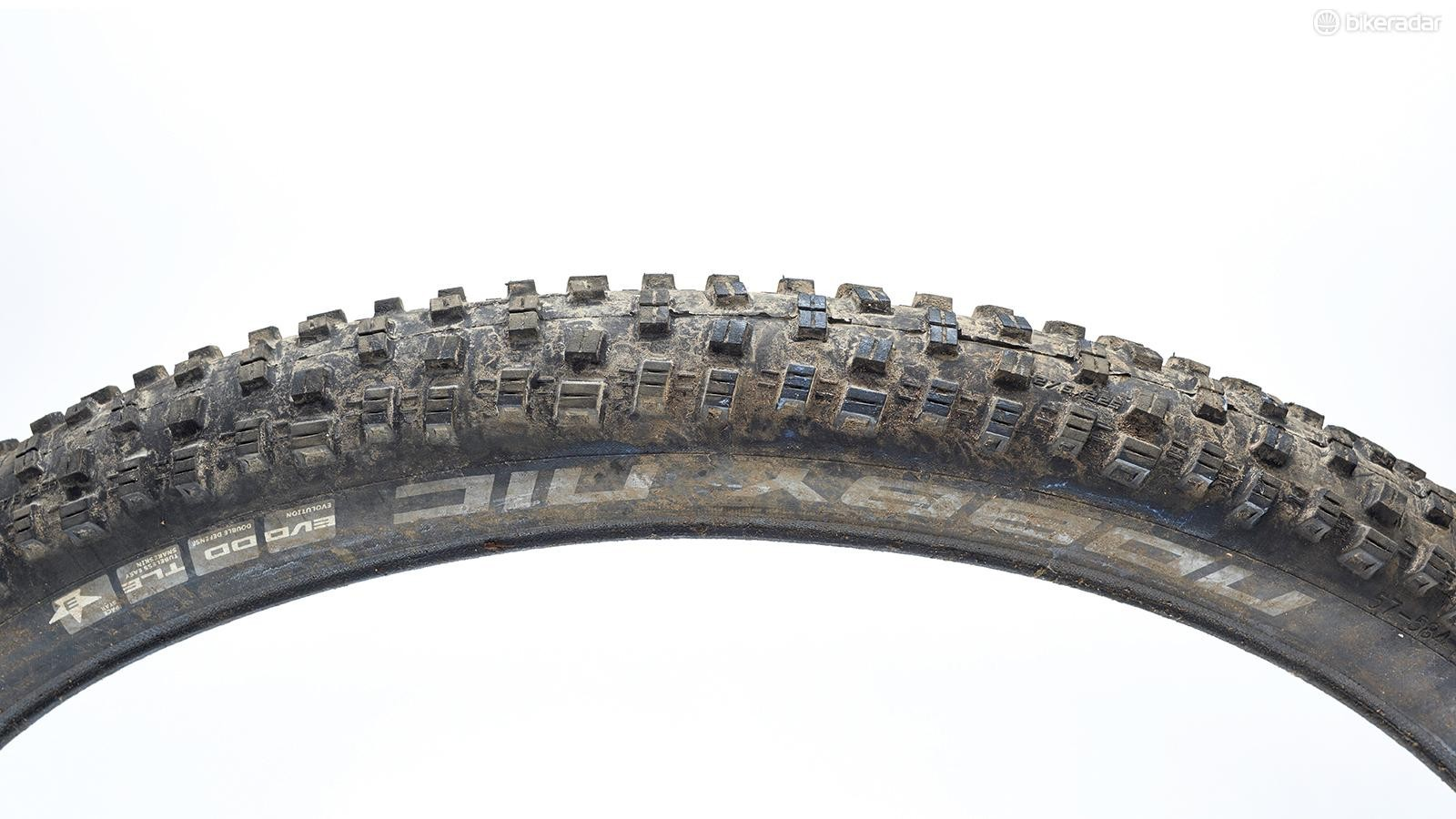 Schwalbe Nobby Nic Snakeskins are superb all-rounders –and the price reflects this