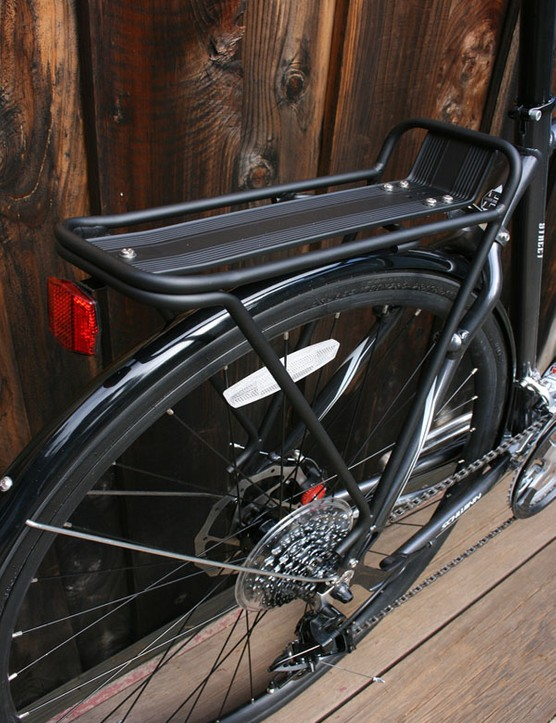 Planet Bike's sturdy alu rear rack carrier.