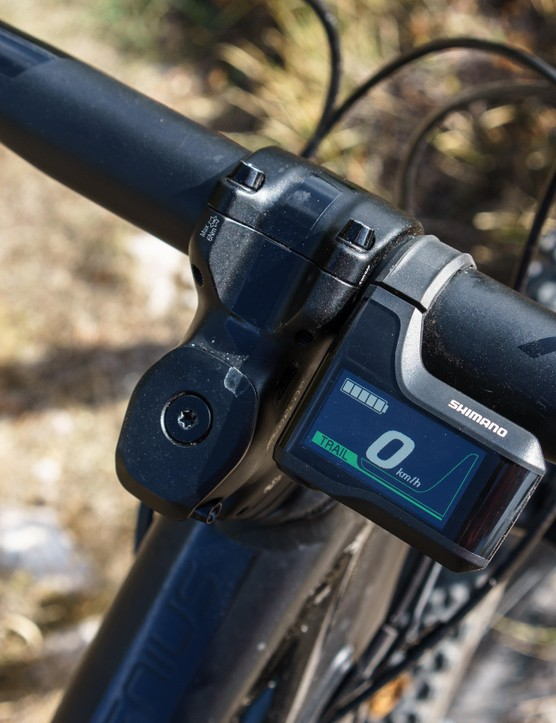 Shimano's display is clear and easy to read