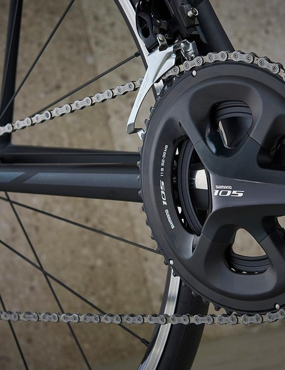 Shimano 105 is specced although similarly priced rivals get Ultegra