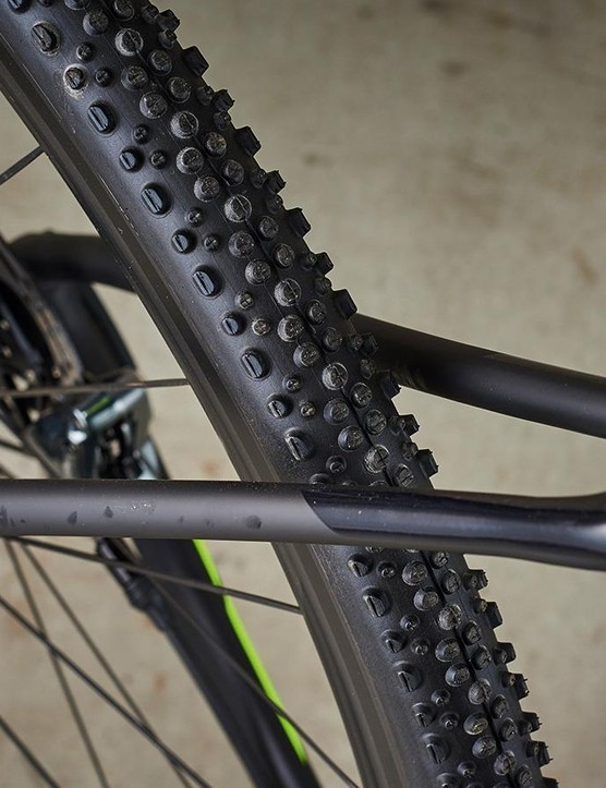 Schwalbe X-One tyres dig deep when the ground gets sloppy