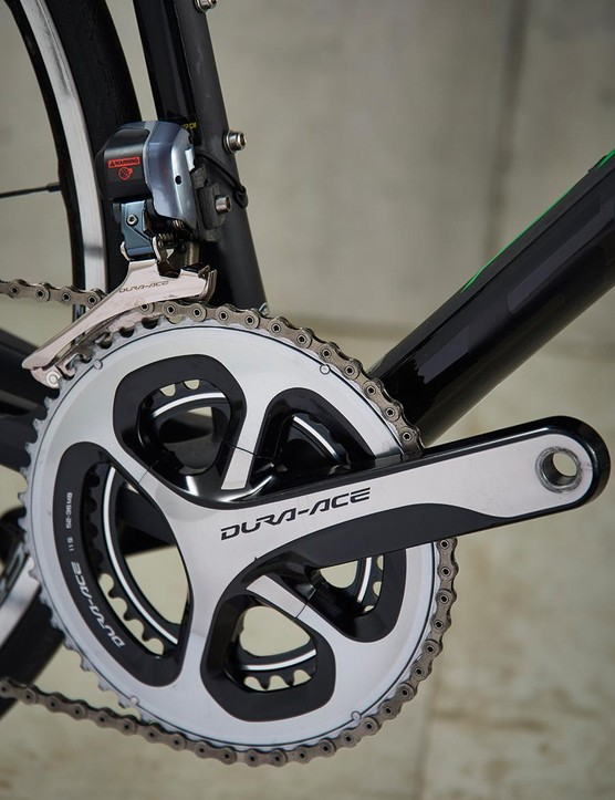 Dura-Ace Di2 does its usual first rate job of shifting and braking