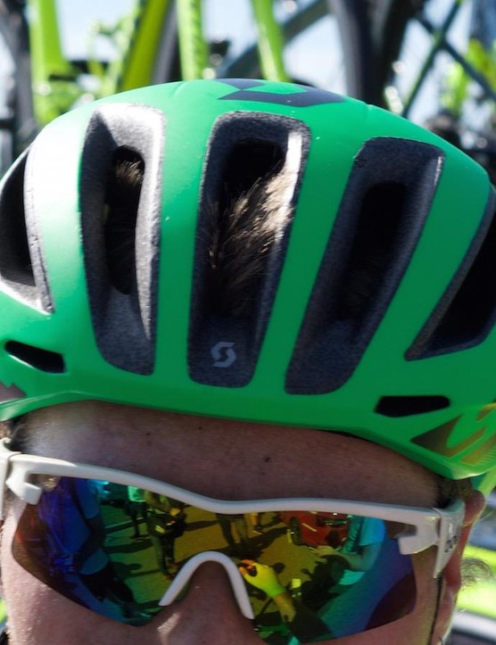 First seen on Esteban Chaves during the Giro d'Italia, Scott's new aero offering was worn by Orica GreenEdge