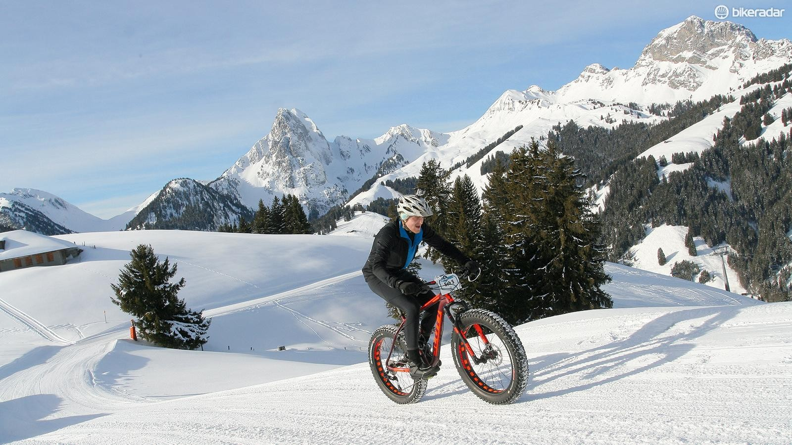 Climbing on slippery ground, it was necessary to knock the saddle back to improve rear-wheel traction