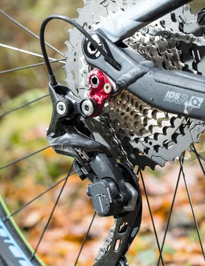 Shimano XT gears, with large 11-46t cassette