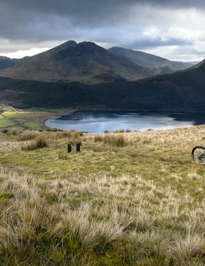 One of only three routes open to cyclists on Snowden