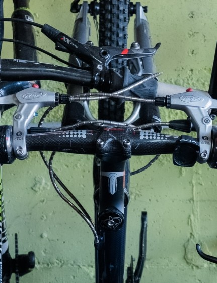 V-brakes, grip shifters, bar ends and bars not much longer than your stem — good times