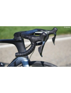 Shimano's new 9170 Dura-Ace levers are nearly indiscernible from the mechanical brake levers