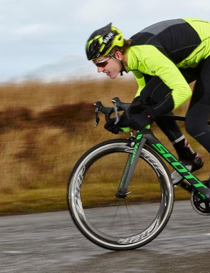 Once you're up to speed, finding an aero tuck and maintaining speed feels the most natural thing in the world