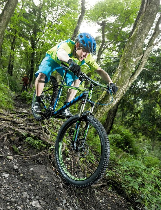 Scott's Scale 720 Plus delivers a trail smoothing ride that's rapid and responsive enough to leave conventional hardtails standing