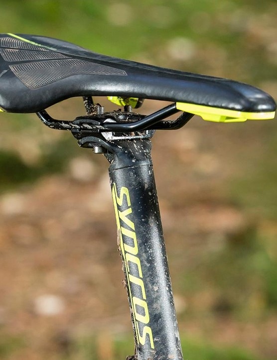 The skinny seatpost helps take the sting out of the trail