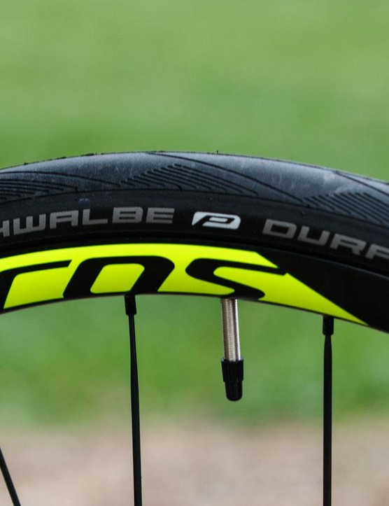 Schwalbe Duranos are one of our favourite 'training' tyres and offer respectable grip, puncture resistance and durability