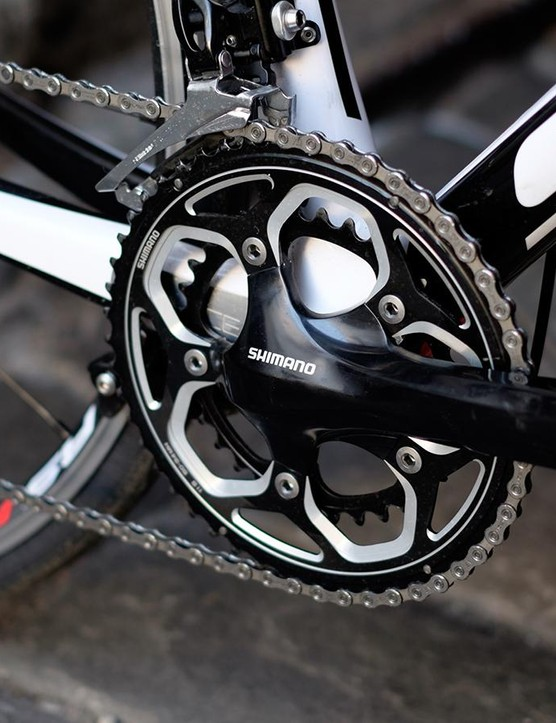 The kit is mainly 105 though the crankset is Shimano's non-series RS500