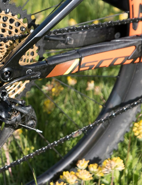 It's a pivotal moment for the design, as the seatstay pivot is removed in favour of a flex stay