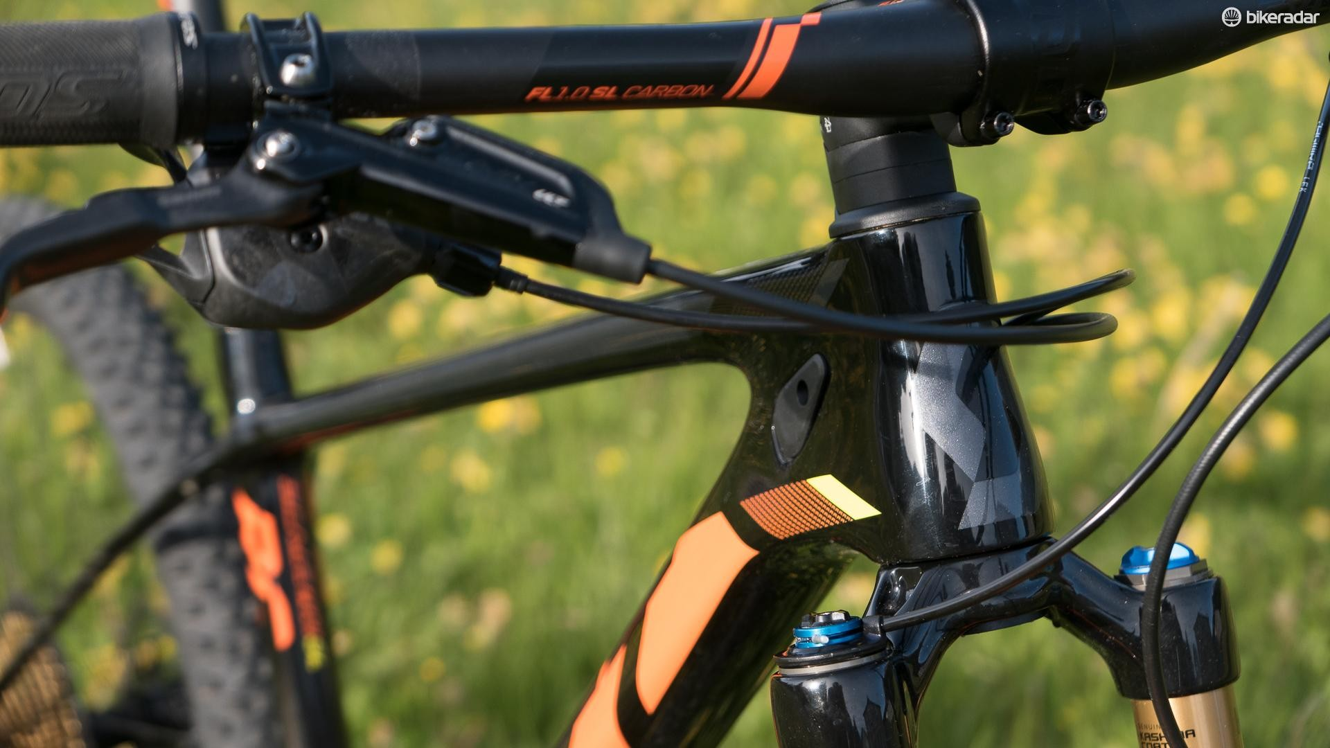 The headtubes on all the bikes have been designed to be as short as possible to allow a slammed front end