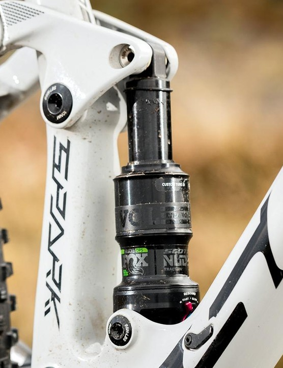 The metric-sized shock helps to make weight savings over the previous model