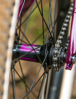 The normally reliable Schwalbe Table Top tyres were left fighting for grip on some surfaces