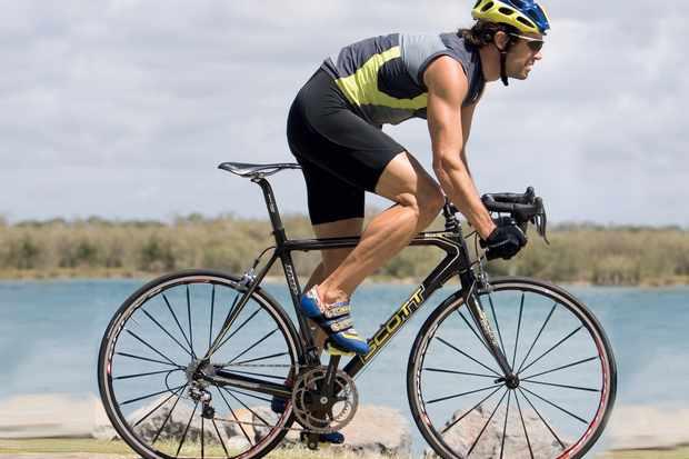 Marcel rides the Scott Addict SL