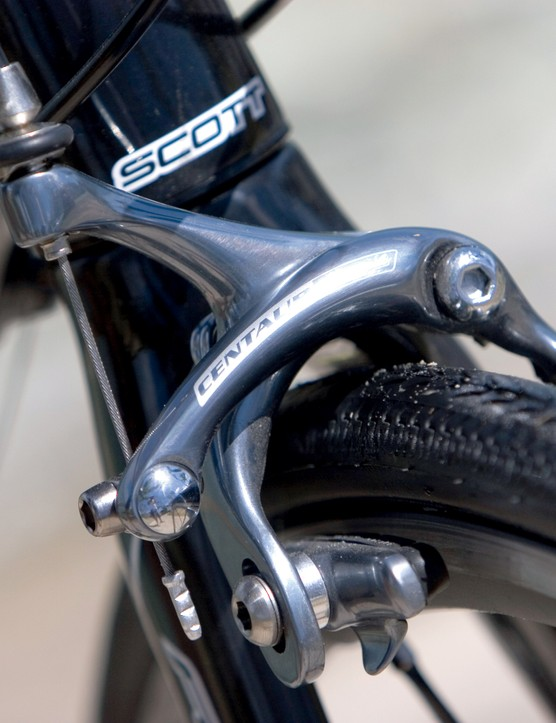 Campagnolo Centaur brakes were fitted to my test bike