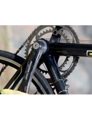 The crankset is Campagnolo Record Carbon