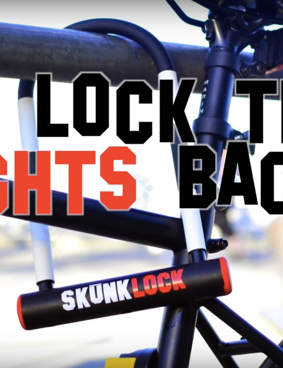 A strong U-lock that has a nasty surprise inside it for any would-be thieves