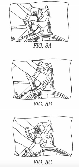 The system could also potentially detect a rider's position on the bars