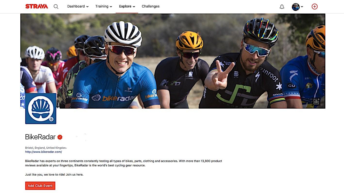 Join BikeRadar on Strava