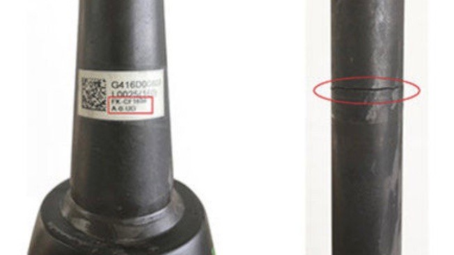 Two model numbers are affected by the recall. You can find the model number on a sticker on the fork's steerer