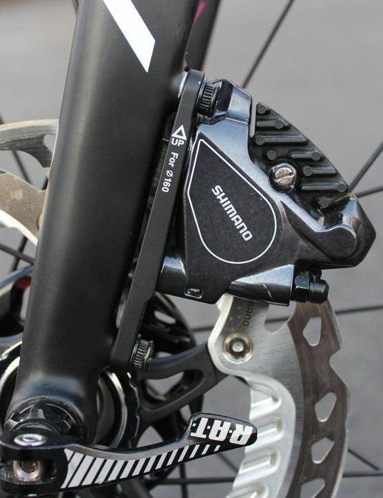 Flat-mount calipers are more secure, Merida says