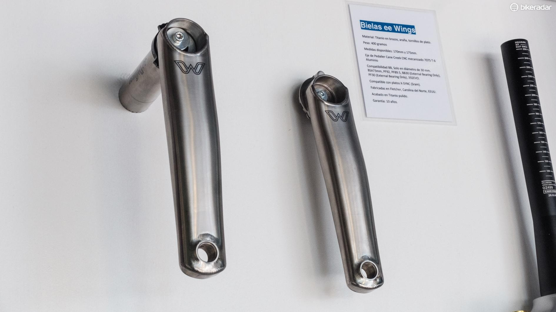 Who wouldn't take the chance to fondle some €999 titanium cranks?