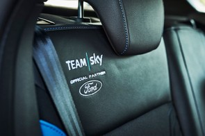 Just in case you'd forgotten whose car it is, the upholstery is branded too